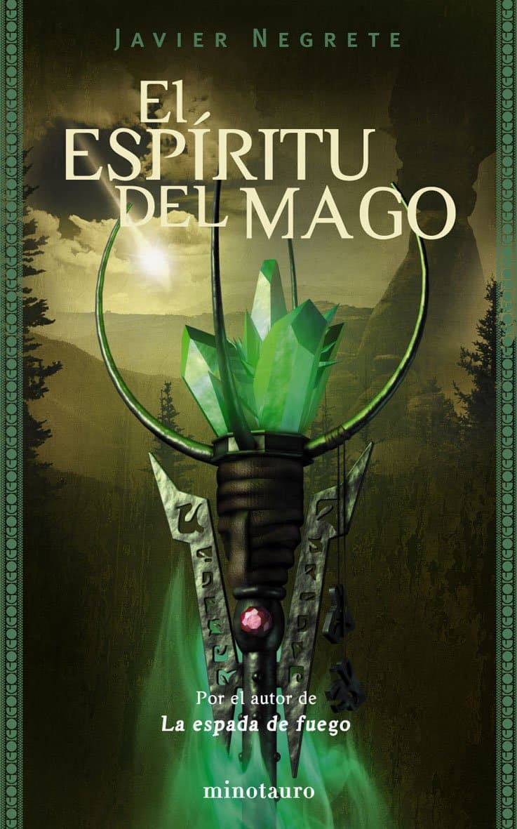 Portada del libro de Javier Negrete El espiritu del mago de la saga tramorea